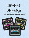 Student Name Tags for Square Adhesive Label Pockets