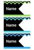 Student Name Tag- Chevron Theme