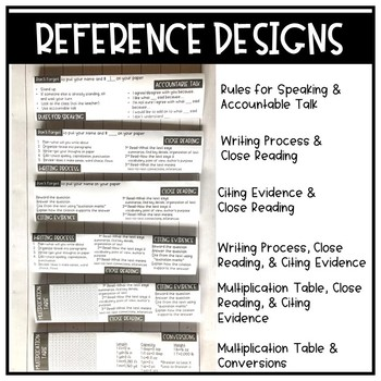 Student Name and Reference Table Tents- Editable