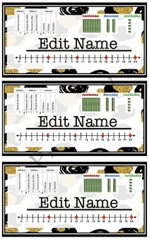Student Nameplates Editable Bilingual *Spanish*