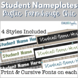 Student Nameplates - Rustic Farmhouse Chic