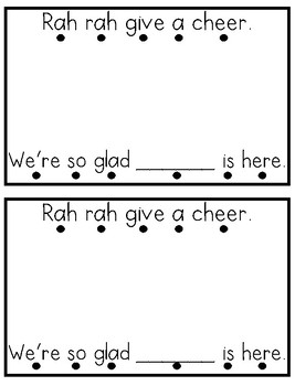 Student Names Cheer Guided Reading Book {Back to School}