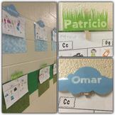 Student Names Hallway Display Clouds & Grass