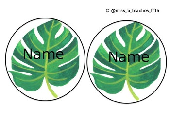 Student Names Leaf