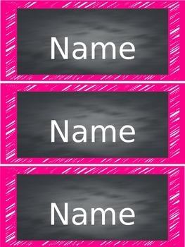 Student Nametags {Bright Chalkboard}