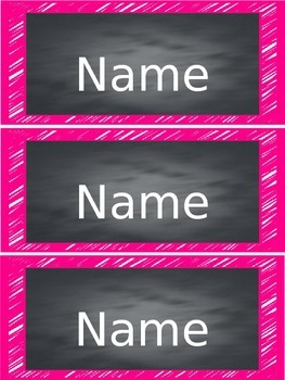 Bright Chalkboard Student Nametags