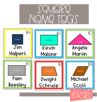 Square Nametags for Easy Grouping