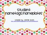 Student Nametags/Nameplates