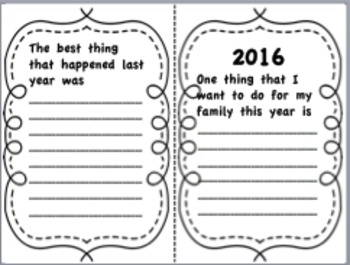 Student New Year's Resolution Book