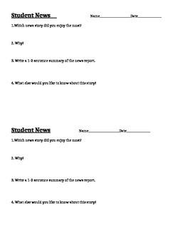Student News Response Form