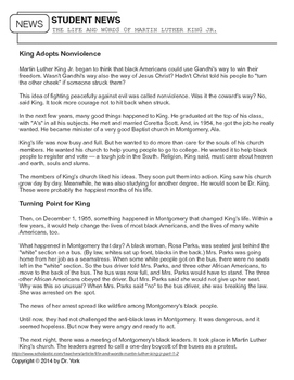 Student News: The Life and Words of Martin Luther King Jr. (4 Lessons)