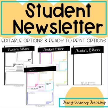 Student Newsletter Templates