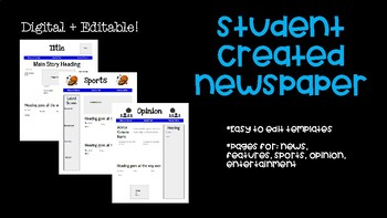 online newspaper template for students