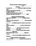 "Student Note Guide PPT Unit VIII Lesson II ""Stellar Evolution"""