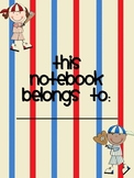 Student Notebook Cover and Dividers Baseball
