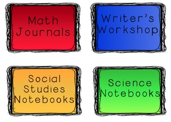 Student Notebook Covers Bundle