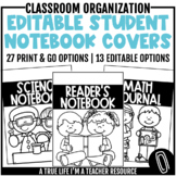 Student Notebook Covers {Editable}