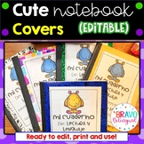 Student Notebook Covers- Spanish (Editable)