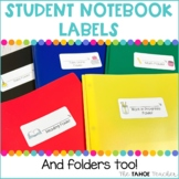 Student Notebook Labels