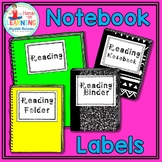 Student Notebook Labels - Black and White