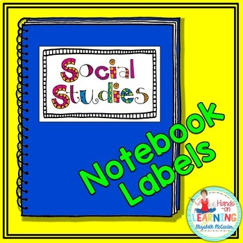 Student Notebook Labels - In Color