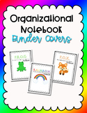 Student Notebook - Organizational Binder Covers  - Editable