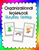 Student Notebook - Organizational Binder Covers  - Editable