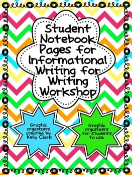 Student Notebook Pages/Graphic Organizers for Informationa