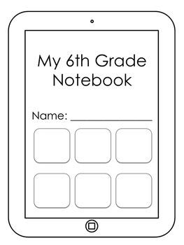 Student Notebook Set (iPad/Technology Theme)