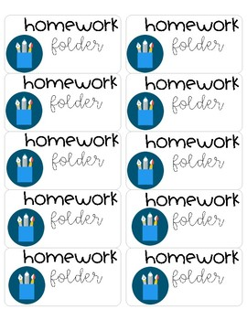 Student Notebook/Workbook Labels