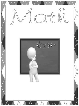 Student Notebook and Binder Covers with Subject Dividers - Argyle and Doodles