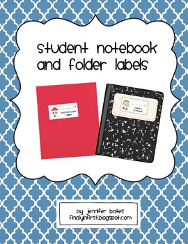 Student Notebook and Folder Labels