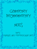 Student Notes Geometry Parallel and Perpendicular Lines