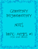 Student Notes Geometry Trigonometry Angles