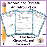 Student Notes Geometry Trigonometry Radians to Degrees and Back
