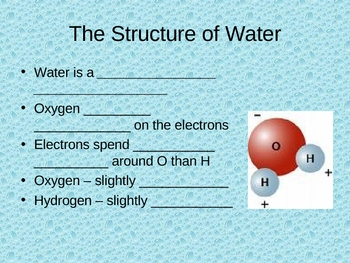 Student Notes for Water: Properties That Make It Essention for Life