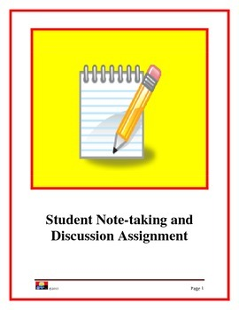 Student Notetaking and Discussion Assignment (Int - Adv)