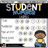 Student Number Circle / Labels  { muted ~ gray and yellow }