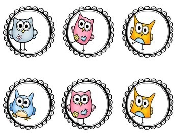 Student Number Circle / Labels { owl themed }