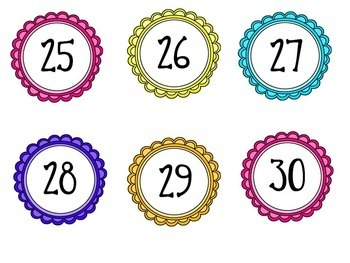 Student Number Circles / Labels { brights }