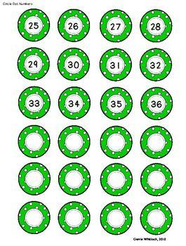 Student Number Circles - Labels  - Polka Dots