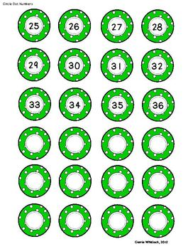 Student Number Circles - Labels  - Polka Dots