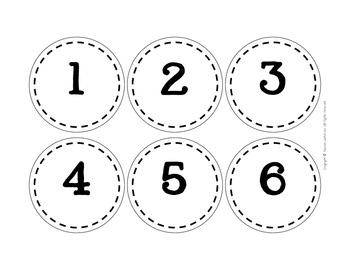 Student Number Circles {numbers 1-36 in four styles}