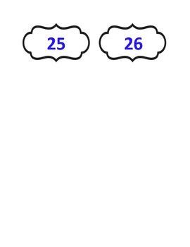 Student Number Labels 1-26