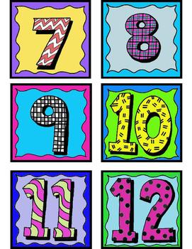 Student Number Labels 1-36