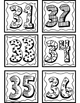 Student Number Labels 1-36