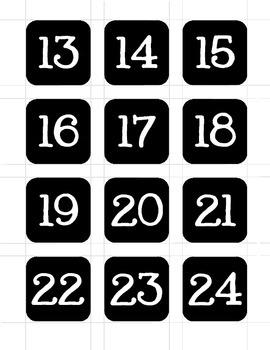 Student Number Labels