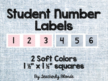 Student Number Labels