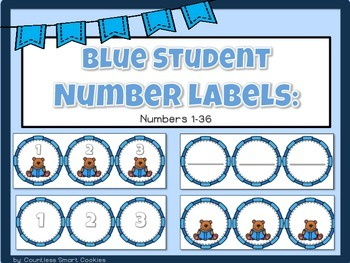 BLUE Numbered Labels