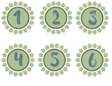 Student Number Labels (Flower Petal Theme)